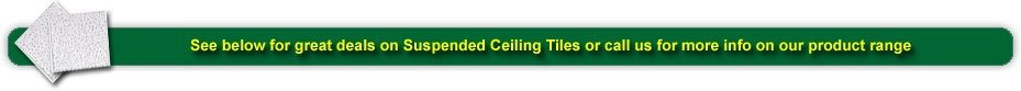 see below for a few of our ceiling tile offers